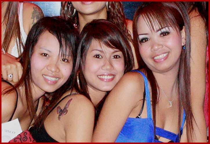 Girls of Red Point bar Pattaya Thailand