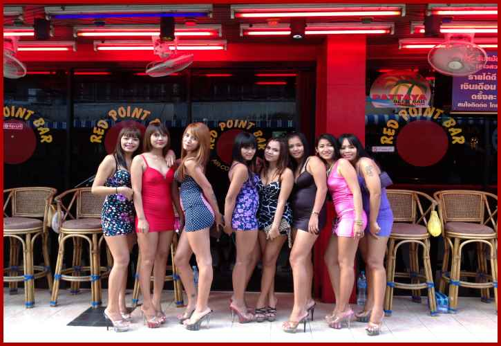 Girls of Red Point bar Pattaya Thailand